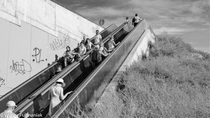 blackandwhite people_photography sony sky_and_clouds stairway