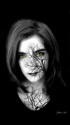 undefined darkart artisticselfie wolf girl