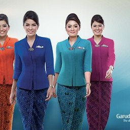 travel airline garudaindonesia flightattendant colorful