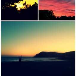 sunset germany mallorca beach collage