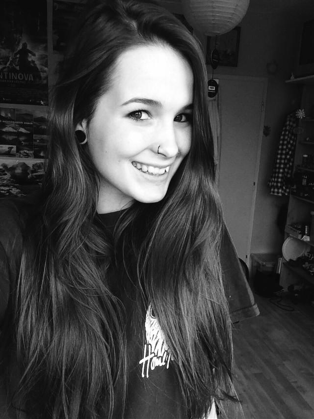 smile. #piercing  #nosepiercing  #nosering  #smile blackandwhite