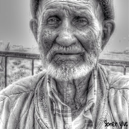 grandfather blackandwhite black white picsart