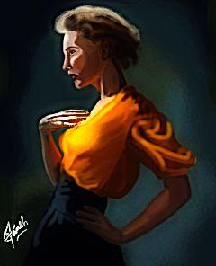 girl love orange style amature