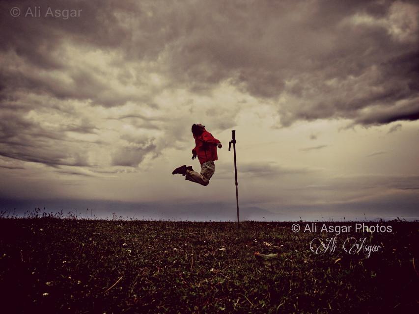 #workout #hiking #jump #joy #mountaineering