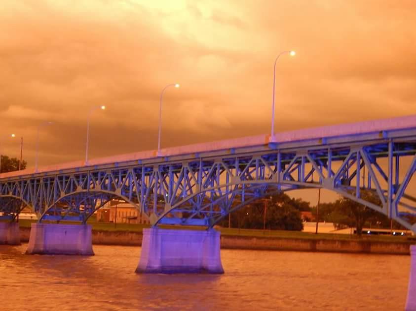 #photography #storms #summer #nature #clouds #night #bridge #rain