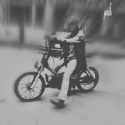 blackandwhite photography motorcycle townsquare japstyle
