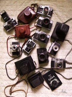 highangle retro old camera vintage