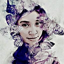 me interesting drawing flower butterfly doubleexposure myedit curvestool crisp beautifypicsart